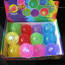 Flashing Light Up Glow In The Dark Bouncing Balls Novelty Sensory Hedgehog Ball