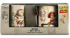 Disney Store LIMITED EDITION Toy Story 20th Anniversary Mug Set WOODY/BUZZ NEW!