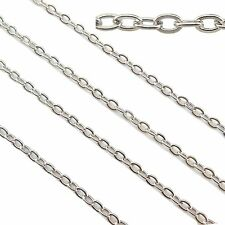 33ft Stainless Steel Cable Link Chains Findings Fit for Jewelry Making &DIY