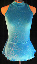 TURQUOISE BLUE Ice Skating Competition Dress / GIRLS SMALL 7 / 8