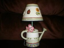 HOME INTERIOR WATER BUCKET CANDLE HOLDER WITH COVER LADY BUG SUNFLOWER