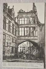 """CPA """" YPRES - Arrière de la cathédrale dont la voûte est complètement effondrée"""