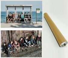 BTS Bangtan You Never Walk Alone Official Unfolded Poster Mint+Pink 2p in a Tube