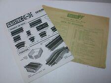 """SCALEXTRIC - Folleto original """"Catalogo y lista de Articulos"""",  año 1977"""