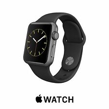 Genuine Apple Watch Sport 38mm SPACE GRAY Aluminum BLACK Band MJ2X2LL - REFURB