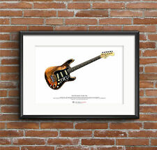 Stevie Ray Vaughan's Stratocaster Number One ART POSTER A3 size