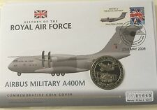 2007 Bank Of Nauru $1 History Of RAF Airbus Military A400m First Day Coin Cover