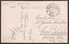 AUSTRIA / ÖSTERREICH / UKRAINE. FELDPOST. 1917.  WW1. FPO 622b. POSTAL HQ CACHET