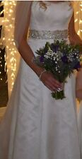 Suzanne Neville Silk Vintage Lace Beautiful Wedding Gown Size 10-12 RRP £3950