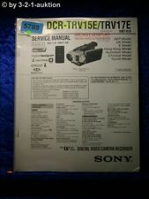 Sony Service Manual DCR TRV15E /TRV17E Level 2 Digital Video Camera (#5788)