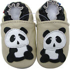 carozoo panda cream 6-12m soft sole leather baby shoes