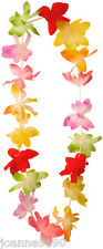 1M HAWAIIAN FANCY DRESS FLOWER LEI NECKLACE GARLAND HULA PARTY COSTUME ACCESSORY