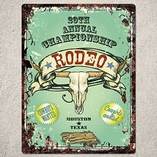 PP0218 Rust RODEO Parking Plate Sign Home Shop Pub Cafe Room Interior Decoration