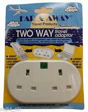 Far & Away Double Two Way Earthed Continental EU European Travel Adaptor Plug