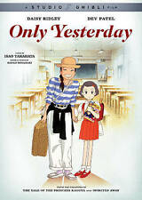 Only Yesterday (DVD, 2016) Daisy Ridley, Dev Patel, Studio Ghibli Film