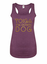 Yoga, I'm Down Dog - Women's Racerback Vest, Gym Workout Running Cardio Tank Top
