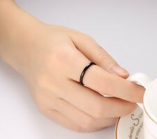 2mm Simple Women's Tungsten Carbide Rings Silver/Gold/Black Wedding Band Sz 6-11