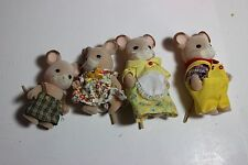 Calico critters/sylvanian families Field Mouse family Dad Mom Boy Girl Brother