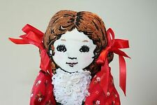 Handmade christmas doll Sewing kit made with braids, embroidery 15 inches tall
