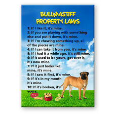 BULLMASTIFF Property Laws MAGNET No 1 Steel Cased DOG