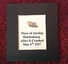 AUTHENTIC HINDENBURG PIECE OF METAL CUT FROM GIRDER REMOVED FROM AIRSHIP