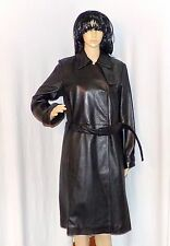 Woman's Full Length Leather Trench Coat, Size M Kenneth Cole New York, Designer