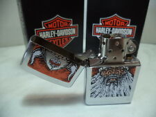ZIPPO LIGHTER FEUERZEUG HARLEY DAVIDSON VIKING CHROME DISCOUNT NEW