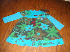 NWT NEW BOUTIQUE CATIMINI 6M 6 MONTHS GORGEOUS BLUE FLORAL DRESS ROBE A MANCHES