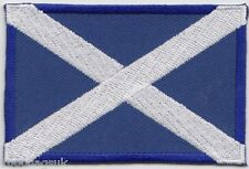 Scotland Scottish Lion on Saltire Rectangular Embroidered Badge Patch