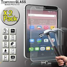 "2 Pack Tempered Glass Screen Protector for Alcatel Pixi 4 7"" Tablet"