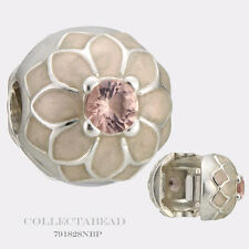 Authentic Pandora Silver Blooming Dahlia Cream & Blush Pink Clip 791828NBP