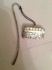 Bus PP-T09   Pattern bookmark with cord 3D English pewter charm