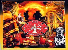 Fire Department Firefighters Fleece Fabric Panel A346.02