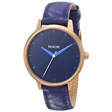 NIXON TIME 38mm Blue Kensington Ladies Leather Watch A1081674 BRAND NEW