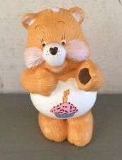 "Vintage 1983 BIRTHDAY BEAR Ceramic Porcelain Figure Care Bears 3"" Figurine"