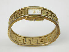 SACHE QUARTZ WATCH HINGED BRACELET STYLE GOLD / BRASS TONE DECO Need Battery