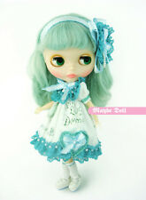 Mint flower dress set for Kenner Blythe - doll cloths / outfits
