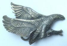 Vintage Eagle Brass Belt Buckle Great American Chicago Buckle Co 1979 SMPK0086
