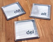 Ctrl Alt Del (Control Alt Delete) Drinks Coaster Set, Funny IT Geek, Unique Gift