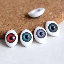 20x Multicolor Resin Eye Ball Charm Cameo Cabochons 10*15mm Pendant Fit Diy WE05