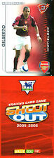 SHOOT OUT FOOTBALL CARD 2005 - 2006 ARSENAL GILBERTO