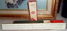 """Frederick Post Chicago 90 #1447 Student 10"""" Slide Rule Mannheim Bamboo Ruler Vtg"""