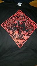 Red King Card Poker  T-Shirt by High Roller Clothing