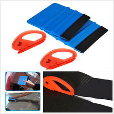 4 X Auto Body Snitty Safety Vinyl Cutter&3M Felt Edge Squeegee Car Wrapping Tool