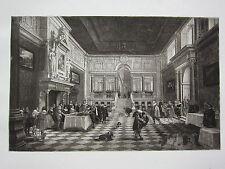 1898 ANTIQUE PRINT (CHARLES I) ~ CHARLES I DINING IN PUBLIC ~ VAN BASSEN