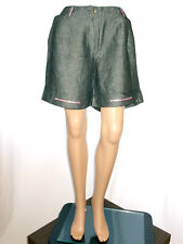 Linea Emme Womens Vtg 90s Grey Embellish Formal Office Tailored Shorts sz 14 AH9