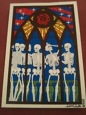 "Grateful Dead Skeleton Rose Stained glass 5 1/8""x7 1/2"" Window STICKER DECAL"