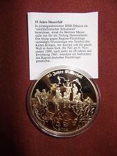 Medallie/Münze 25 Jahre Mauerfall, vergoldet
