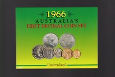 1966 Australia UNC Coin Set ex Sherwood in folder with Silver round 50 Cent