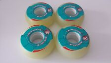 4 x KRYPTONICS ROLLER WHITE WHEELS 57mmx90A - COMPLETE SET-LONGBOARD- SKATEBOARD